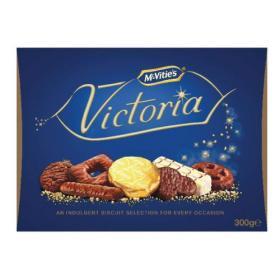 McVities Victoria Carton 300g (Assortment of milk, dark and white chocolate) 28780
