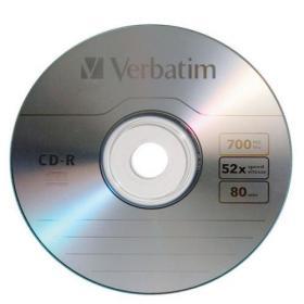Verbatim CD-R Datalife Non-AZO 52x 700MB (Pack of 25) 43432