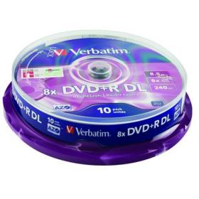 Verbatim DVD+R Double Layer Non-Printable 8x 8.5GB (Pack of 10) 43666