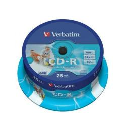 Cheap Stationery Supply of Verbatim CD-R Crystal 700MB Slim Case (Pack of 25) 43322 Office Statationery