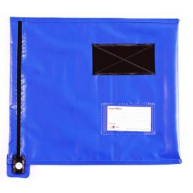 GoSecure Flat Mailing Pouch 355x381mm Blue CVF2