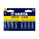 Varta Longlife AA Battery (Pack of 8) 04106101418