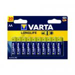 Varta Longlife AA Battery (Pack of 20) 04106101420