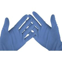 Cheap Stationery Supply of Wallace Cameron Vinyl Gloves Medium Blue Pack of 100 2602057 2602057 Office Statationery