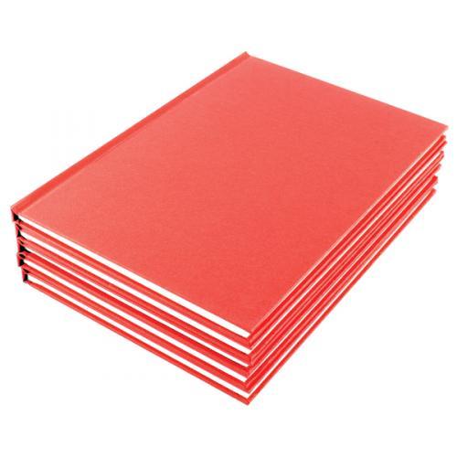 WX01061 Pack of 10 Manuscript A5 Book Ruled Feint