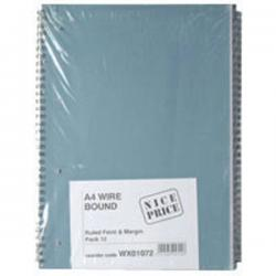 Cheap Stationery Supply of Blue Bound A4 Spiral Pad 80 leaf (Pack of 12) WX01072 Office Statationery