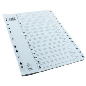 A4 White A-Z Mylar Index (Multi-punched and Mylar-reinforced tabs and holes) WX01532