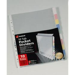 Cheap Stationery Supply of Rexel 10 Tab Pocket Divider  10x Packs of 10x Office Statationery