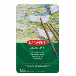 Cheap Stationery Supply of Derwent Academy Watercolour Tin Set of 12 Watersoluble Colour Pencils - Outer carton of 6 Office Statationery