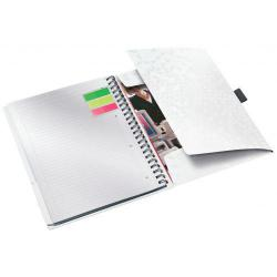 Cheap Stationery Supply of Leitz WOW Be Mobile Notebook A4 ruled, wirebound with PP cover. 80 sheets, 4-hole punched. Pen holder and 3 flap folder. White - Outer carton of 6 Office Statationery