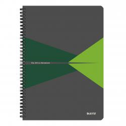 Cheap Stationery Supply of Leitz Office Notebook A4 squared, wirebound with cardboard cover, 90 sheets, Microperforated, Green - Outer carton of 5 Office Statationery