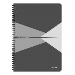 Cheap Stationery Supply of Leitz Office Notebook A4 squared, wirebound with cardboard cover, 90 sheets, Microperforated, Grey - Outer carton of 5 Office Statationery